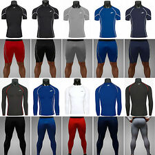 New Mens Sports Compression Under Base Layers Gym Tops Tight Skin T-Shirts/Pants