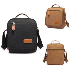 New Mens Vintage Canvas Leather School Shoulder Bag Military Messenger Handbags