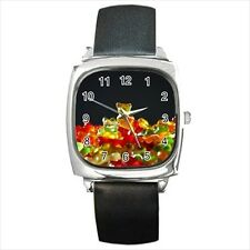 Gummy Bears Candy Round & Square Leather Strap Watch