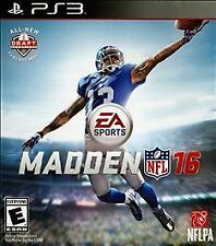 Madden NFL 16 PS3 Sony PlayStation 3 Brand New Factory Sealed