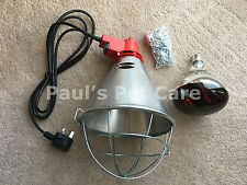 Radiant Heat Lamp & Red Bulb High Low Off Switch Poultry Chickens Pigs Puppies