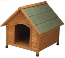 Pet Products Dog Houses Premium Plus A-Frame Dog House Fir Wood Shingle Roof