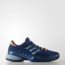 Adidas Men's Barricade 2017 Tennis Shoes Navy/Blue/Orange BA9073
