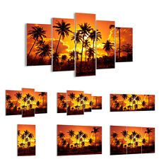GLASS PRINTS 30 SHAPES Picture Palms Trees Sun 0187 UK