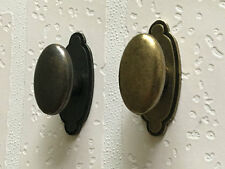 Retro Oval Cabinet Door Knob Dresser Drawer Pull Dark Antique Bronze Rustic