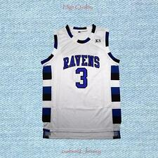 Men's One Tree Hill Lucas Scott 3 Ravens Basketball Jersey White S-2XL