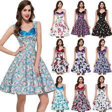 Womens Ladies New Vintage 1950s Vtg ~MANY~ Floral Print Party Prom Evening Dress