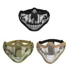 Metal Mesh Half Face Mask Tactical Military Hunting Skull Cosplay Costume Mask