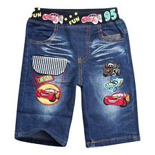 New Cars Mcqueen Boys Children Kids Summer Short Denim Waist Pant Cloth