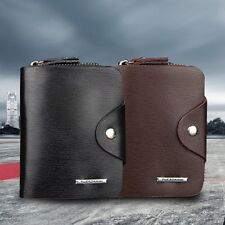 Multifunction Hasp Open Wallet Men PU Leather Men Wallets Purse Short LN