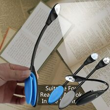 Flexible Double LED Book Reading Light Clip Arm Table Lamp Study Desk Light LN