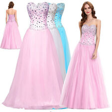 Bridesmaid Strapless MAXI Cocktail Wedding Evening Corset-style Prom Dress HOT