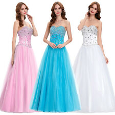 Long Evening Dresses Cocktail Dress Ball Gown Party Inlaid beads Straps Dress