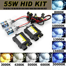 55W HID Conversion Kit Car Xenon Driving Lights H1 H4 H7 H3 9005 4300K 6000K 12V