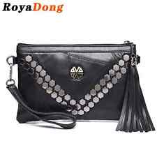 Day Clutches Envelope Bag Women's Handbags  Genuine Leather Bags Rivet Messenger