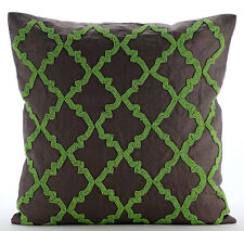 Green Symphony - Brown 35x35 cm Cotton Linen Cushions Covers For Couch