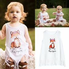 Infant Baby Toddler Girls Fox T Shirt Sleeveless Vest Top Blouse Clothes Outfits
