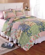 3-Pc. Printed BEDFORD Quilt Shams Set~Queen/Full or King Size Home Bedroom Decor