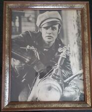 "Marlon Brando Print Framed 16 X 13 Johnny On His Bike From ""The Wild One"" 1954"