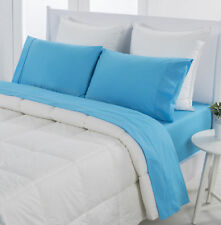 NEW Teal Dreamaker Easy Care Plain Dyed Sheet Set