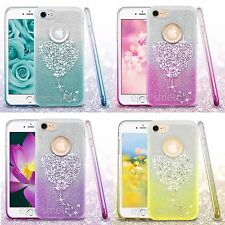 Apple iPhone 7 / 7 Plus Bling Hybrid Glitter Rubber Protective Slim Case Cover
