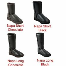 Premium UGG Napa Long Australia Sheepskin UGG Boots - Napa Long Chocolate Black