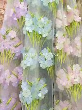 3D Laser Cut Flowers Garden Embroidery Allover Lace Fabric Dress Gown 51''/Yard