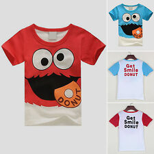 Kids Boys T-shirt Cartoon Short Sleeve Casual Summer Tops T Shirts Clothes 2-8 Y