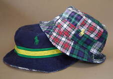 NWT $55 POLO RALPH LAUREN S M L XL WATCH HILL REVERSIBLE BUCKET HAT Navy Plaid
