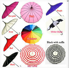 Wedding Bride umbrella Pagoda Parasol wind-proof umbrella