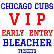 CHICAGO CUBS vs TAMPA BAY RAYS · JULY 4 · VIP EARLY ENTRY BLEACHER TICKETS