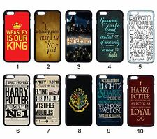 Harry Potter Quotes Hogwarts Badge Case For Apple iPhone iPod & Samsung Galaxy