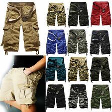 New Mens Military Army Combat Trousers Tactical Camo Pants Cargo Shorts 3/4 Knee