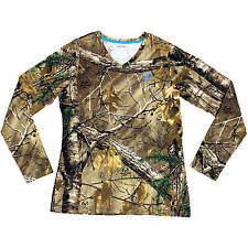 Realtree XTRA Women's/Ladies Camo Long Sleeve V-neck T-Shirts: S-2XL
