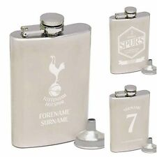 Personalised Engraved Tottenham Hotspur Spurs Hip Flask Gifts Souvenirs for Fans
