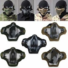 Outdoor Sport Metal Nylon Half Face Protective Mask COD Cosplay Airsoft Military