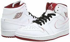 NIB Nike Air Jordan 1 Mid White/Gym Red/Black 554724-103
