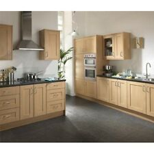 LINSLADE NATURAL OAK EFFECT KITCHEN CABINETS WITH DOORS AND HANDLES
