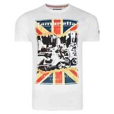 Lambretta Broken Union Jack T Shirt in White