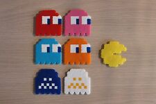 Pac-Man & Ghosts Pixel Art Perler Bead Sprites from the Pac-Man Video Games