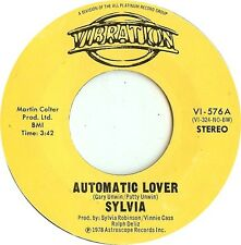 "Sylvia Robinson-Automatic Lover 7"" 45-Vibration, VI-576, 1978, US Plain Sleeve"