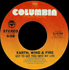 """Earth Wind And Fire-Got To Get You Into My Life 7"""" 45-Columbia, CBS 6553, 1978,"""