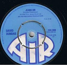 "David Dundas-Jeans On 7"" 45-Air (3), CHS 2094, 1976, Plain Sleeve Writing On Lab"