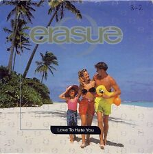 """Erasure-Love To Hate You 7"""" 45-MUTE, MUTE131, 1991, Picture Sleeve"""