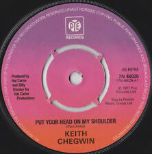 """Keith Chegwin-Put Your Head On My Shoulder 7"""" 45-Pye Records, 7N 46029, 1977, Pl"""