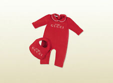 NWT NEW Gucci Baby girls red romper playsuit bib gift 2pc 12/18 18/24m 269759
