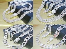 Curb Chain Necklace King's Silver Plated Figaro