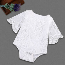 Newborn Infant Baby Girl Floral Lace One-piece Romper Jumpsuit Bodysuit Outfits