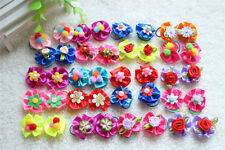 Mixed Colours Pet Cat Dog Hair Bows Rubber Band Grooming