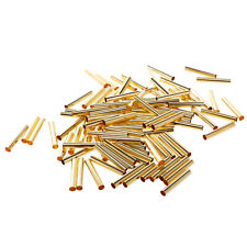 100pcs Tube Bead Smooth Spacer Metal Tube Spacer Beads Jewelry Findings